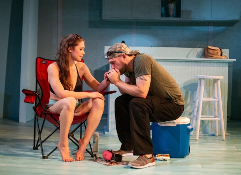 Rebeca Robles and Joe Sykes in The Hero's Wife, photo by Jerry Siegel